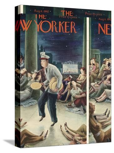 The New Yorker Cover - August 8, 1942-Constantin Alajalov-Stretched Canvas Print