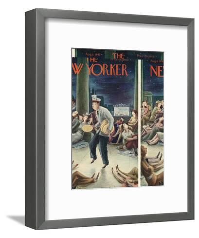 The New Yorker Cover - August 8, 1942-Constantin Alajalov-Framed Art Print