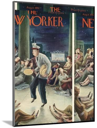 The New Yorker Cover - August 8, 1942-Constantin Alajalov-Mounted Premium Giclee Print