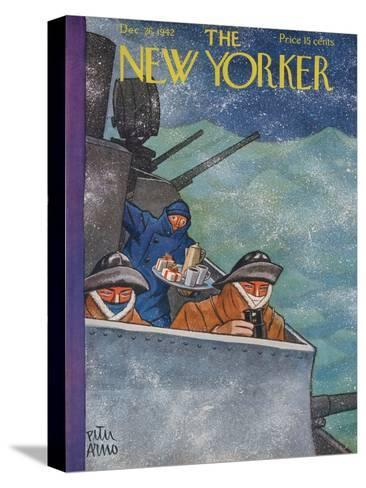 The New Yorker Cover - December 26, 1942-Peter Arno-Stretched Canvas Print