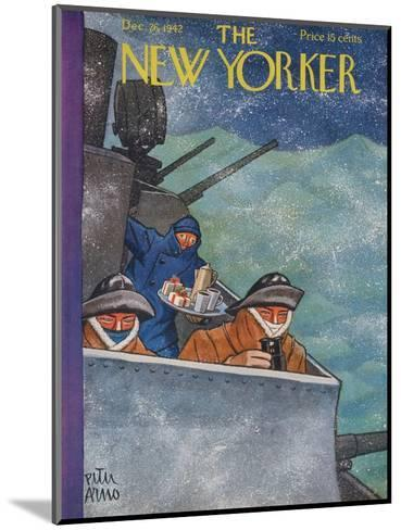 The New Yorker Cover - December 26, 1942-Peter Arno-Mounted Premium Giclee Print