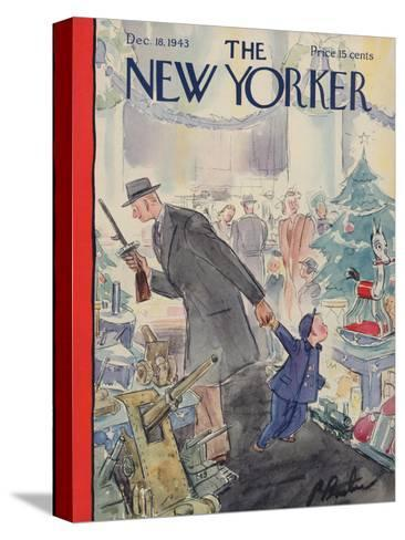 The New Yorker Cover - December 18, 1943-Perry Barlow-Stretched Canvas Print