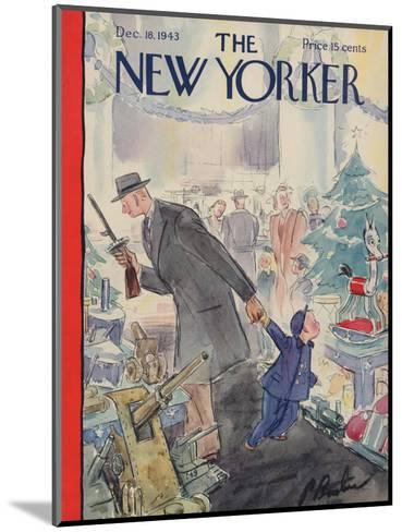 The New Yorker Cover - December 18, 1943-Perry Barlow-Mounted Premium Giclee Print