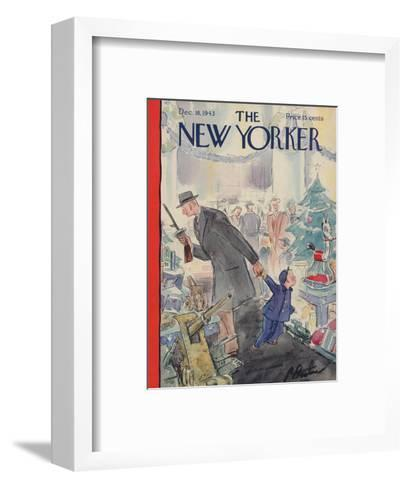 The New Yorker Cover - December 18, 1943-Perry Barlow-Framed Art Print