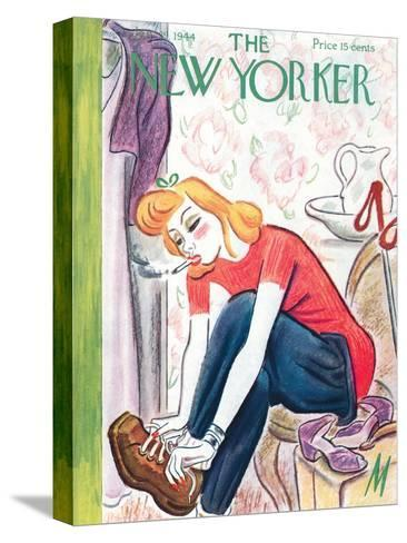 The New Yorker Cover - January 29, 1944-Julian de Miskey-Stretched Canvas Print