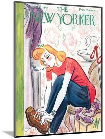 The New Yorker Cover - January 29, 1944-Julian de Miskey-Mounted Premium Giclee Print