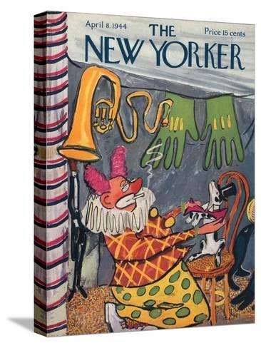 The New Yorker Cover - April 8, 1944-Ludwig Bemelmans-Stretched Canvas Print