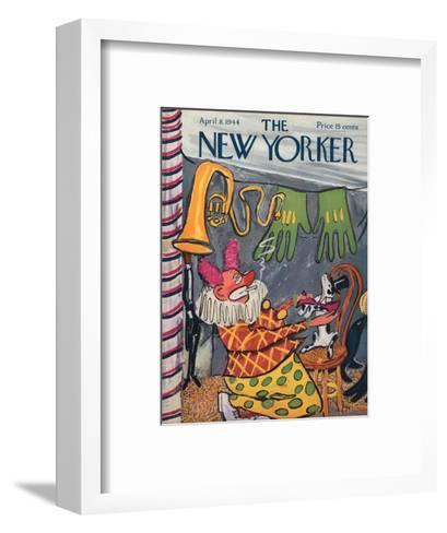 The New Yorker Cover - April 8, 1944-Ludwig Bemelmans-Framed Art Print