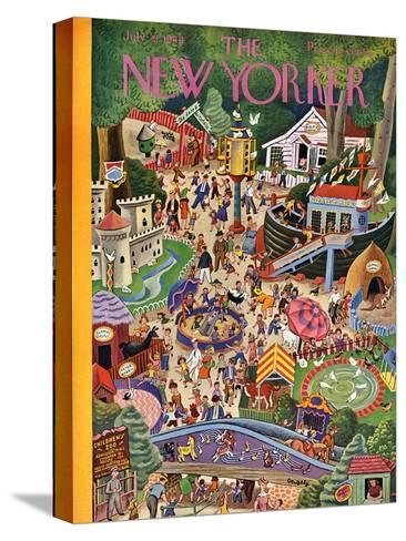 The New Yorker Cover - July 29, 1944-Tibor Gergely-Stretched Canvas Print