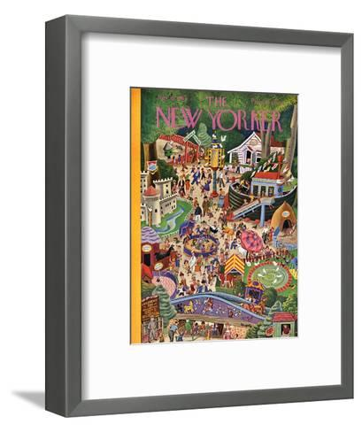 The New Yorker Cover - July 29, 1944-Tibor Gergely-Framed Art Print