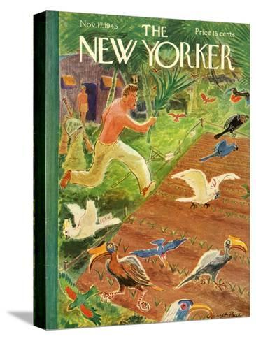 The New Yorker Cover - November 17, 1945-Garrett Price-Stretched Canvas Print