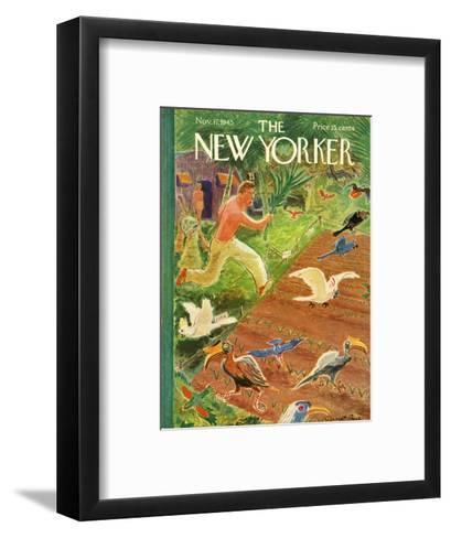 The New Yorker Cover - November 17, 1945-Garrett Price-Framed Art Print