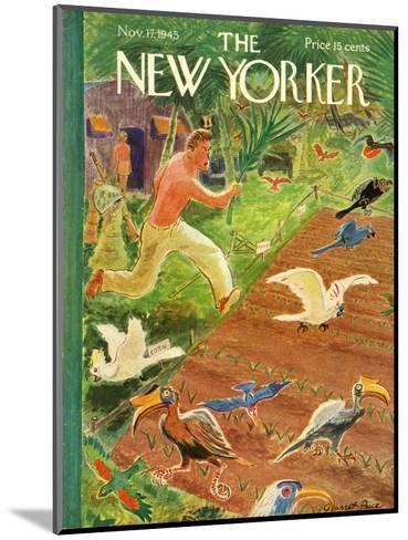 The New Yorker Cover - November 17, 1945-Garrett Price-Mounted Premium Giclee Print