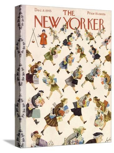 The New Yorker Cover - December 8, 1945-Constantin Alajalov-Stretched Canvas Print