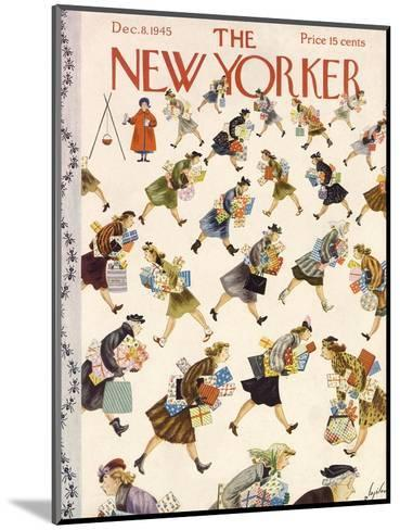 The New Yorker Cover - December 8, 1945-Constantin Alajalov-Mounted Premium Giclee Print
