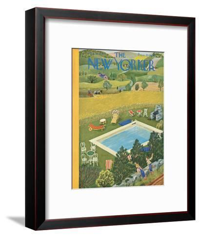 The New Yorker Cover - August 10, 1946-Ilonka Karasz-Framed Art Print