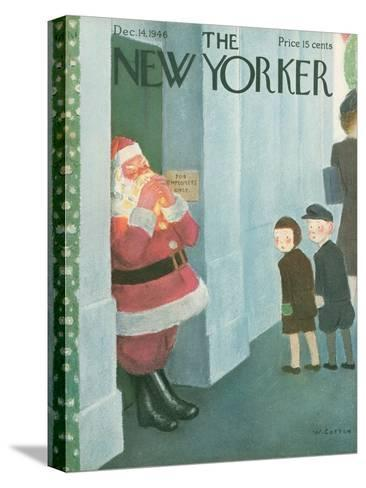 The New Yorker Cover - December 14, 1946-William Cotton-Stretched Canvas Print