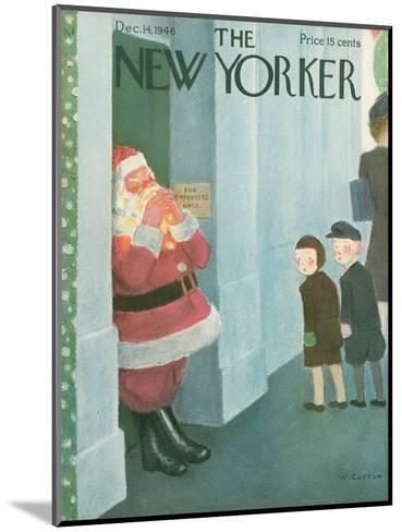 The New Yorker Cover - December 14, 1946-William Cotton-Mounted Premium Giclee Print