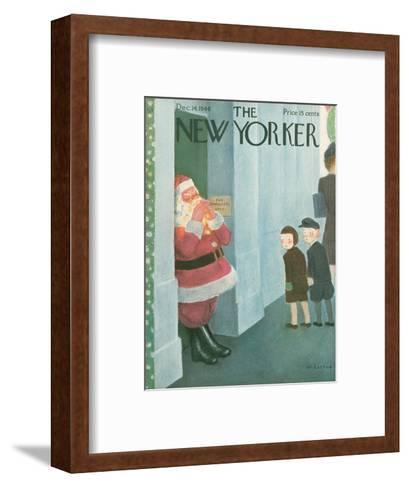 The New Yorker Cover - December 14, 1946-William Cotton-Framed Art Print