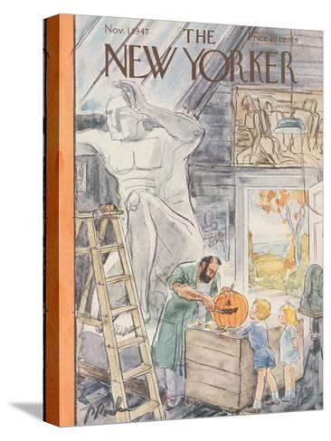 The New Yorker Cover - November 1, 1947-Perry Barlow-Stretched Canvas Print