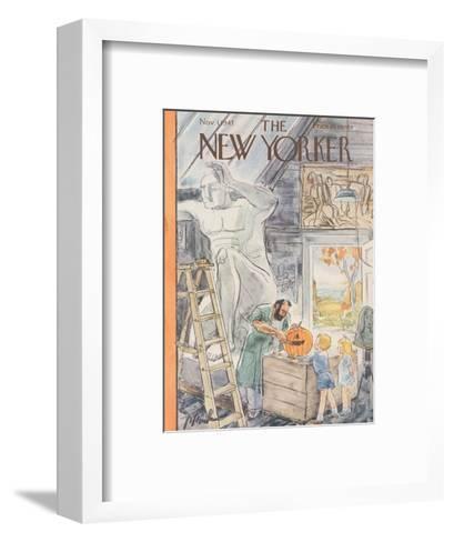 The New Yorker Cover - November 1, 1947-Perry Barlow-Framed Art Print