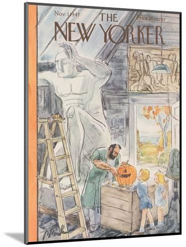 The New Yorker Cover - November 1, 1947-Perry Barlow-Mounted Premium Giclee Print