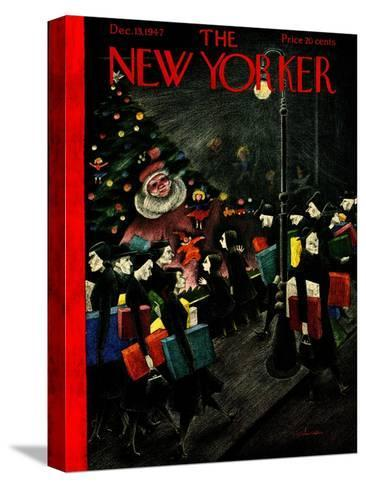 The New Yorker Cover - December 13, 1947-Christina Malman-Stretched Canvas Print