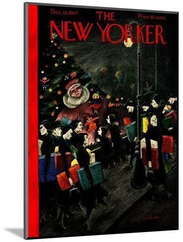 The New Yorker Cover - December 13, 1947-Christina Malman-Mounted Premium Giclee Print