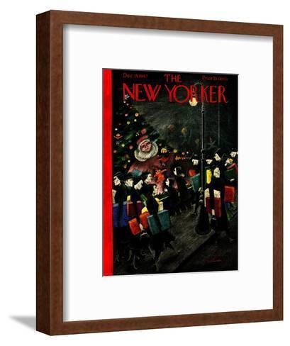 The New Yorker Cover - December 13, 1947-Christina Malman-Framed Art Print