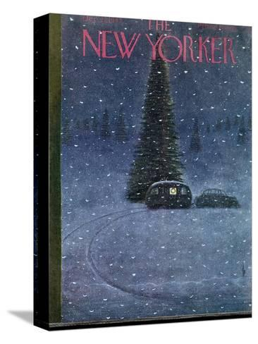 The New Yorker Cover - December 27, 1947-Garrett Price-Stretched Canvas Print