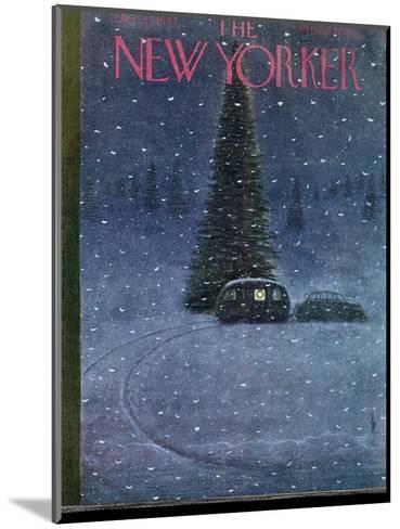 The New Yorker Cover - December 27, 1947-Garrett Price-Mounted Premium Giclee Print