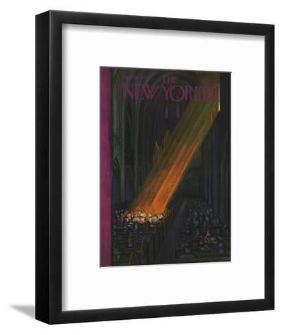 The New Yorker Cover - April 16, 1949-Arthur Getz-Framed Art Print