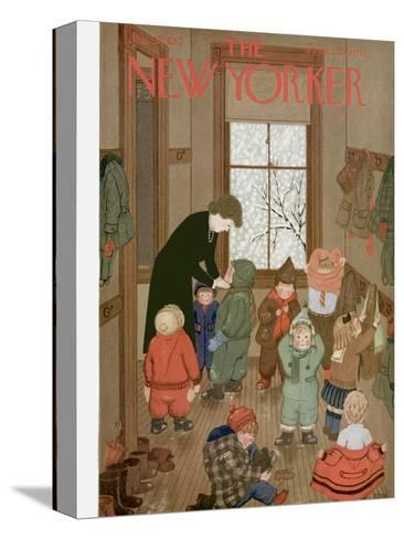 The New Yorker Cover - January 21, 1950-Edna Eicke-Stretched Canvas Print