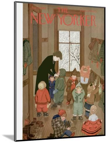 The New Yorker Cover - January 21, 1950-Edna Eicke-Mounted Premium Giclee Print