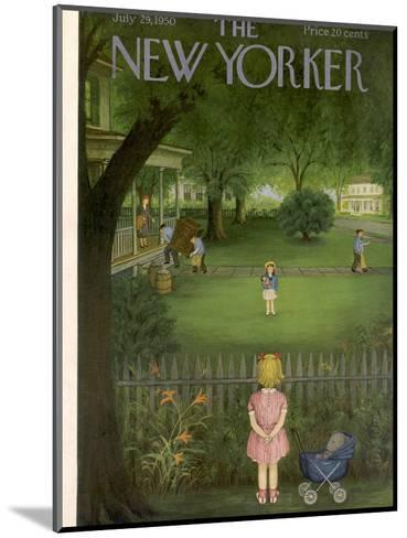 The New Yorker Cover - July 29, 1950-Edna Eicke-Mounted Premium Giclee Print