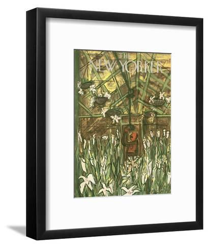 The New Yorker Cover - March 24, 1951-Ludwig Bemelmans-Framed Art Print