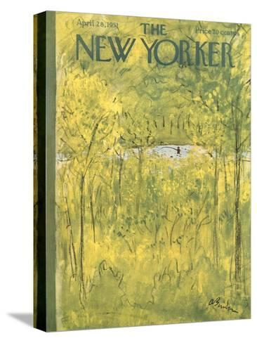 The New Yorker Cover - April 28, 1951-Abe Birnbaum-Stretched Canvas Print