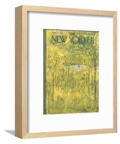 The New Yorker Cover - April 28, 1951-Abe Birnbaum-Framed Art Print