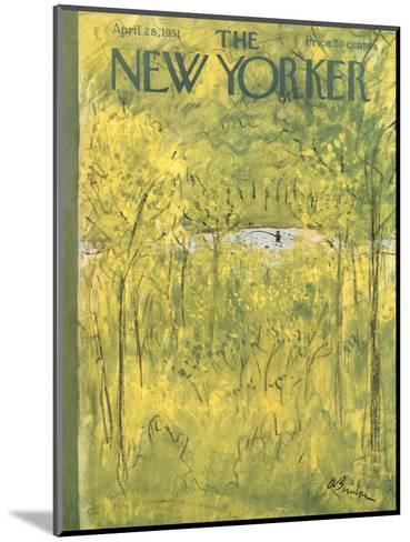 The New Yorker Cover - April 28, 1951-Abe Birnbaum-Mounted Premium Giclee Print