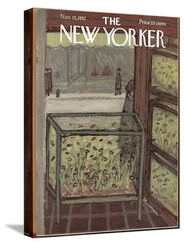 The New Yorker Cover - November 15, 1952-Abe Birnbaum-Stretched Canvas Print