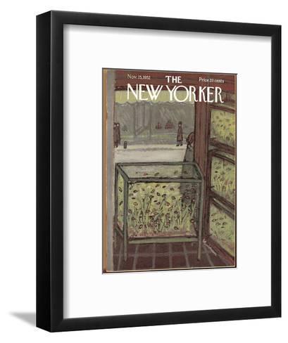 The New Yorker Cover - November 15, 1952-Abe Birnbaum-Framed Art Print
