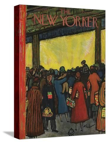 The New Yorker Cover - December 12, 1953-Abe Birnbaum-Stretched Canvas Print