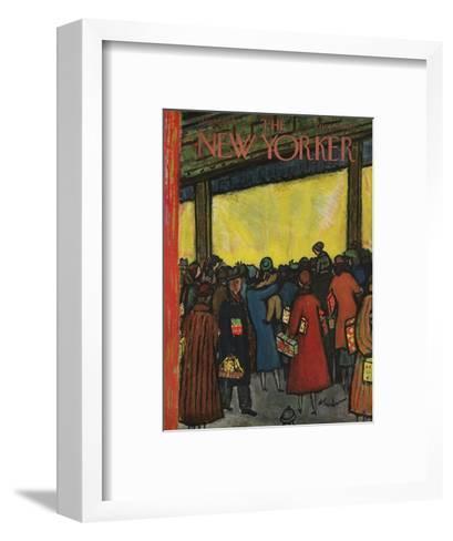 The New Yorker Cover - December 12, 1953-Abe Birnbaum-Framed Art Print