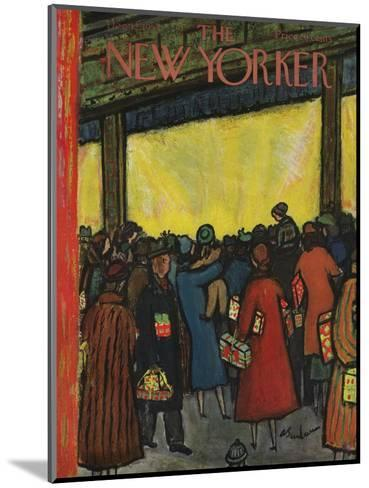The New Yorker Cover - December 12, 1953-Abe Birnbaum-Mounted Premium Giclee Print