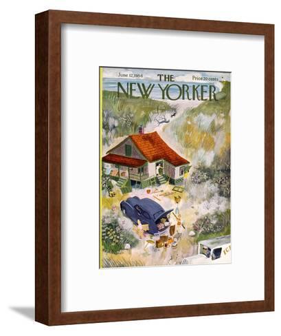 The New Yorker Cover - June 12, 1954-Roger Duvoisin-Framed Art Print