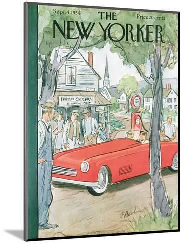The New Yorker Cover - September 4, 1954-Perry Barlow-Mounted Premium Giclee Print