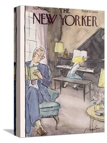 The New Yorker Cover - November 12, 1955-Perry Barlow-Stretched Canvas Print