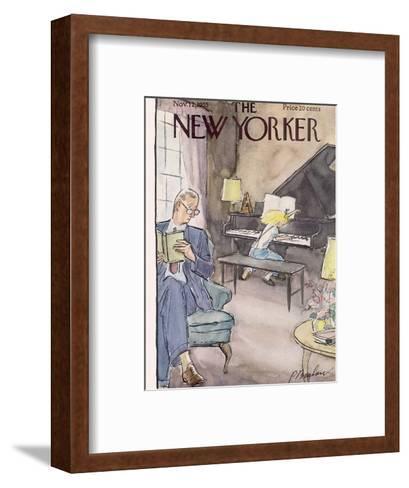 The New Yorker Cover - November 12, 1955-Perry Barlow-Framed Art Print