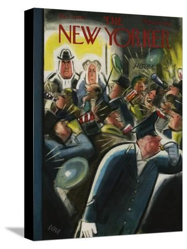 The New Yorker Cover - December 31, 1955-Leonard Dove-Stretched Canvas Print