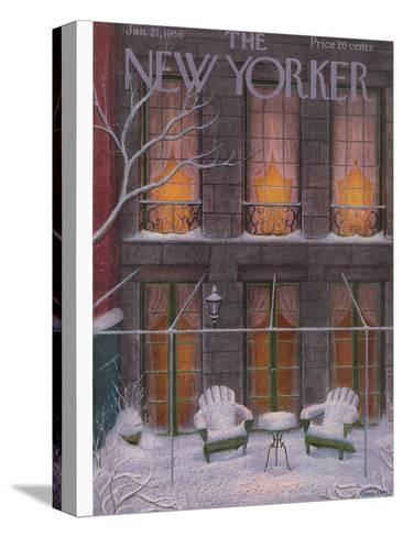 The New Yorker Cover - January 21, 1956-Edna Eicke-Stretched Canvas Print